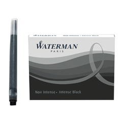Картриджи чернильные WATERMAN, комплект 8 шт. (Франция), черные