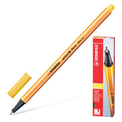 "Ручка капиллярная STABILO ""Point"", толщина письма 0,4 мм, желтая"