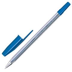 """Ручка шариковая UNI (Япония) """"Fine"""", корпус прозрачный, 0,4 мм, синяя"""