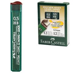 Грифель запасной FABER-CASTELL (Германия), HB, полимерный, 0,5 мм, 12 штук