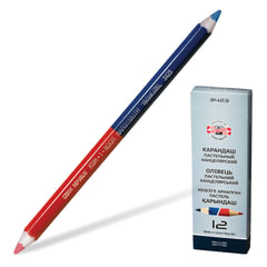 Карандаш двухцветный KOH-I-NOOR, утолщённый, красно-синий, 3,8 мм грифель, картонная упаковка