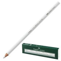 Карандаш перманентный FABER-CASTELL, для гладких поверхностей (стекло, металл, пластик), водоустойчивый, белый