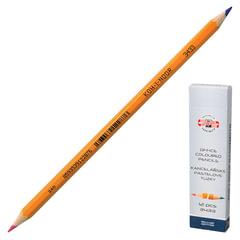Карандаш двухцветный KOH-I-NOOR, 1 шт., офисный, красно-синий, 3,2 мм грифель, картонная упаковка