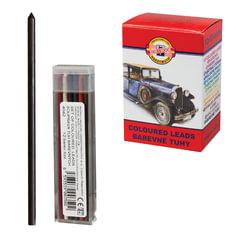 Грифели цветные запасные KOH-I-NOOR, НАБОР 12 штук, для механических карандашей 4012/12