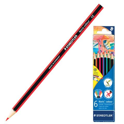"""Карандаши цветные STAEDTLER (Штедлер, Германия) """"Noris color ecology"""", 6 цветов"""
