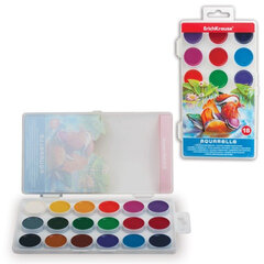 """Краски акварельные ERICH KRAUSE """"School"""", 18 цветов, медовые, пластиковая коробка с европодвесом"""