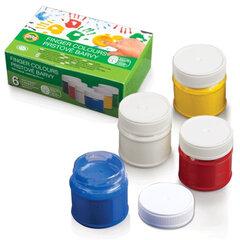 """Краски пальчиковые KOH-I-NOOR """"Лягушонок"""", 6 цветов, 300 мл, на водной основе, картонная коробка"""