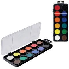 Краски акварельные KOH-I-NOOR, 12 цветов, пластиковая коробка с европодвесом, без кисти