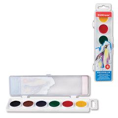 """Краски акварельные ERICH KRAUSE """"School"""", 6 цветов, медовые, пластиковая коробка с европодвесом, без кисти"""