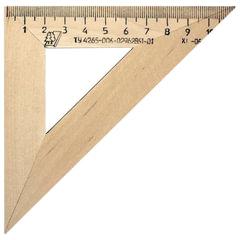 Треугольник деревянный УЧД, угол 45, шкала 11 см