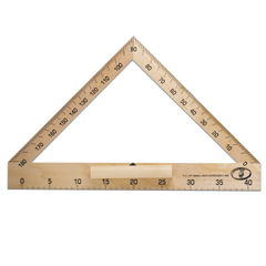 Транспортир деревянный классный, 40 см, 180 градусов
