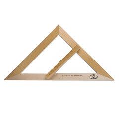 Треугольник деревянный классный, равнобедренный, 45х49 см, без шкалы