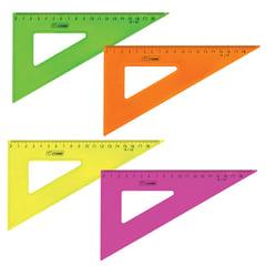 """Треугольник СТАММ """"Neon Cristal"""", 30х18 см, тонированный, прозрачный, неоновый ассорти"""