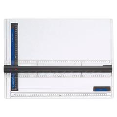Доска чертежная STAEDTLER (Штедлер, Германия), формат А3, с рейсшиной, пластик, нескользящие резиновые ножки