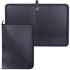 Папка на молнии пластиковая, А4, матовая, черная, размер 320х230 мм