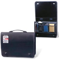 Портфель пластиковый BRAUBERG (БРАУБЕРГ) контракт, А4, 370х270х90 мм, 1 отделение, 2 накладных кармана, черный