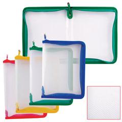 """Папка на молнии пластиковая ERICH KRAUSE """"Zip Folder"""", А4, 325х225 мм, 4 цвета ассорти, 0,5 мм"""