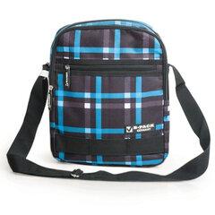 Сумка на ремне BRAUBERG (БРАУБЕРГ) B-HB1432 для старшеклассников/студентов, голубой/серый, 24х30,5х10,5 см