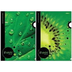 "Папка-уголок с рисунком HATBER HD, А4, ""iFRESH-green"", ассорти, 0,18 мм, AG4"