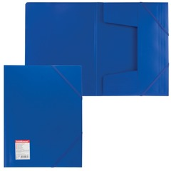 "Папка на резинках ERICH KRAUSE ""Standard"", А4, синяя, до 300 листов, 0,6 мм"