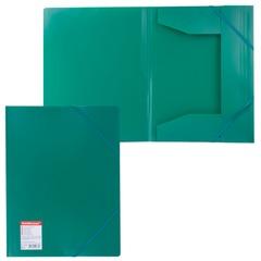 "Папка на резинках ERICH KRAUSE ""Standard"", А4, зеленая, до 300 листов, 0,6 мм"