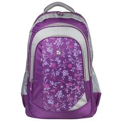 """Рюкзак BRAUBERG (БРАУБЕРГ) для старшеклассников/студентов/молодежи, """"Цветочный узор"""", 25 литров, 30х18х49 см"""