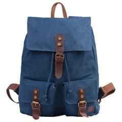 """Рюкзак BRAUBERG (БРАУБЕРГ) для старшеклассников/студентов/молодежи, холщовый, """"Синий"""", 20 литров, 38х13х43 см"""