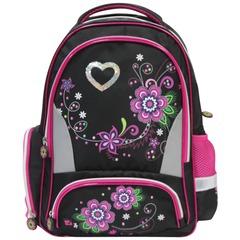 """Рюкзак BRAUBERG (БРАУБЕРГ) для учениц начальной школы, """"Цветы"""", 20 литров, 42х28х15 см"""