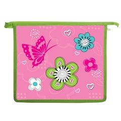 Папка для тетрадей BRAUBERG (БРАУБЕРГ), А5, пластик, молния сверху, цветная печать, для девочек, розовые цветы