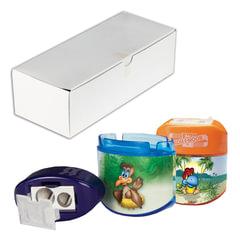 """Точилка KOH-I-NOOR """"Birds"""", 2 отверстия, с контейнером и крышкой, ассорти, в картонной коробке"""