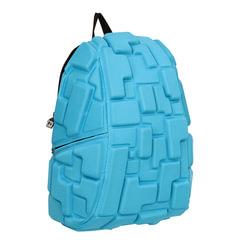 """Рюкзак MADPAX """"Blok Full"""", универсальный, молодежный, 32 л, голубой, """"Блоки"""", 46х35х20 см"""