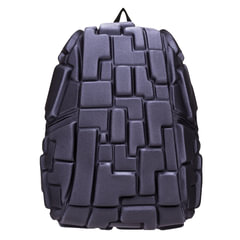 """Рюкзак MADPAX """"Blok Full"""", универсальный, молодежный, 32 л, серый, """"Блоки"""", 46х35х20 см"""