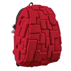 """Рюкзак MADPAX """"Blok Half"""", универсальный, молодежный, 16 л, красный, """"Блоки"""", 36х30х15 см"""