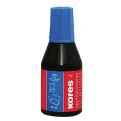 Краска штемпельная KORES, синяя 27 мл, на водно-маслянной основе