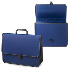 Портфель пластиковый BRAUBERG (БРАУБЕРГ) консул, А4, 370х280х120 мм, 2 отделения, синий