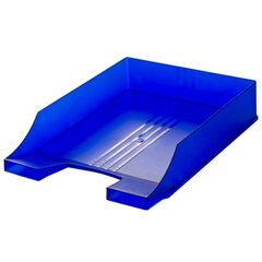 """Лоток горизонтальный для бумаг BRAUBERG """"Energy"""" (БРАУБЕРГ """"Энерджи""""), тонированный синий"""