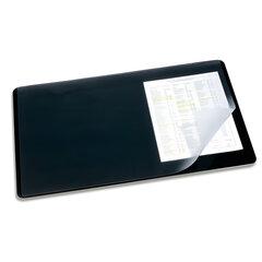 Коврик-подкладка настольный для письма DURABLE (Германия), c прозрачным листом, 40х53 см, черный