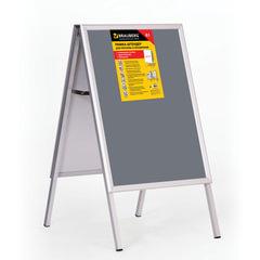 Рамка-штендер для рекламы и объявлений BRAUBERG (БРАУБЕРГ), напольная, А1, 594х841 мм, двухсторонняя, складная