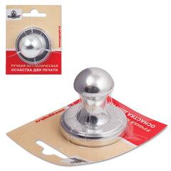 """Оснастка ручная для печати D=40 мм, """"Комета"""", с клеевым слоем, корпус металлический, """"серебро"""""""