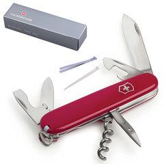 """Подарочный нож VICTORINOX """"Spartan"""", 91 мм, складной, красный, 12 функций"""