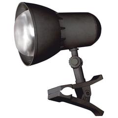 """Светильник настольный """"НАДЕЖДА-1 МИНИ"""" на прищепке, лампа накаливания с зеркальным отражающим слоем, 40 Вт, черный, Е27"""