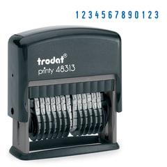 Нумератор 13-разрядный, оттиск 42х3,8 мм, синий, TRODAT 48313, корпус черный