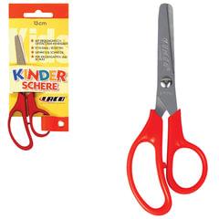Ножницы LACO (ЛАКО, Германия), 130 мм, красные, закруглённые, детские, в картонной упаковке с европодвесом