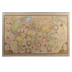 """Коврик-подкладка настольный для письма, с картой мира ретро, 380х590 мм, """"ДПС"""""""