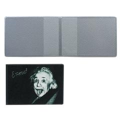 """Обложка для пластиковых карт, дорожных билетов, студенческих билетов """"Эйнштейн"""", кожзаменитель, """"ДПС"""""""