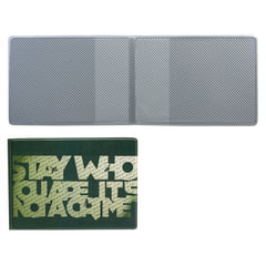 """Обложка для пластиковых карт, дорожных билетов, студенческих билетов """"STAY WHO"""", кожзаменитель, """"ДПС"""""""