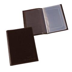 """Бумажник водителя BEFLER """"Грейд"""", натуральная кожа, тиснение, 6 пластиковых карманов, коричневый"""