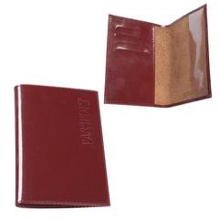 """Обложка для паспорта BEFLER """"Classic"""", натуральная кожа, тиснение """"Passport"""", коньяк"""