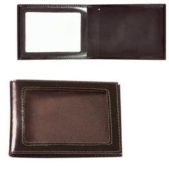 """Обложка для удостоверения BEFLER """"Classic"""", натуральная кожа, с окном, коричневая"""