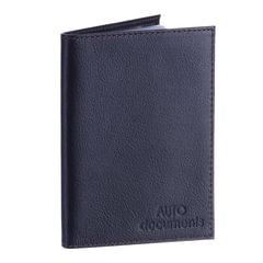 """Бумажник водителя BEFLER """"Грейд"""", натуральная кожа, тиснение, 6 пластиковых карманов, синий"""